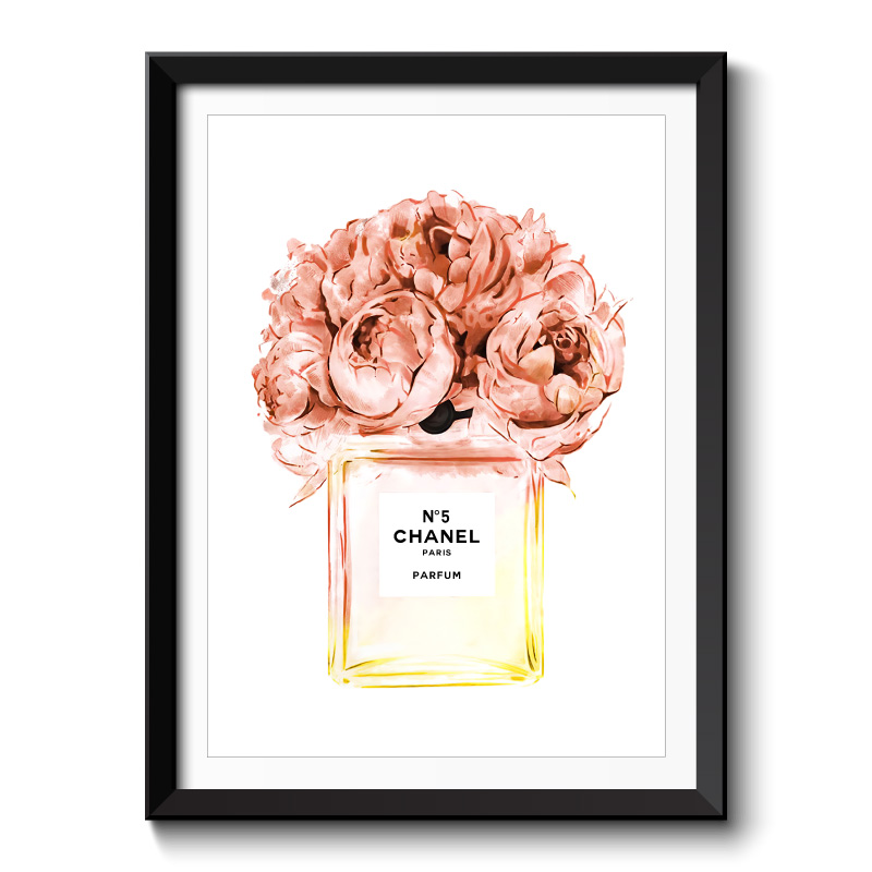 Chanel No5 Orange Flowers Perfume Bottle Framed Art Print