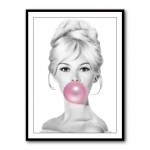 Brigitte Bardot Bubble Gum Wall Art Print