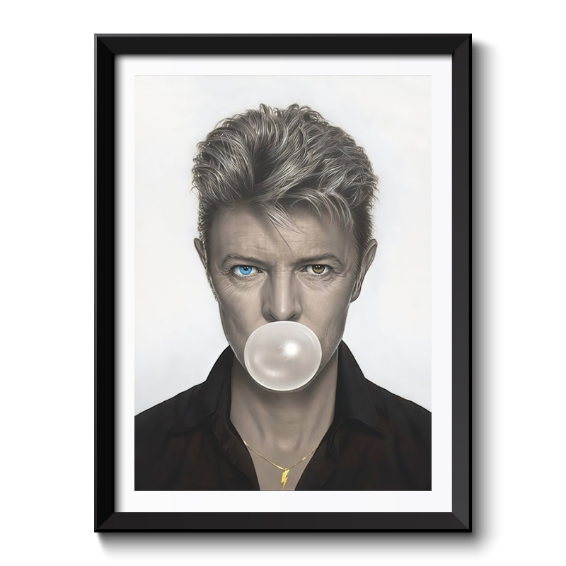 David Bowie Bubble Gum Framed Wall Art Print