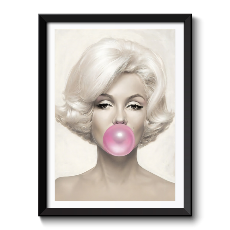 Marilyn Monroe Bubble Gum Framed Wall Art Print