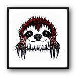 Scrabble the Sloth Framed Wall Art Print