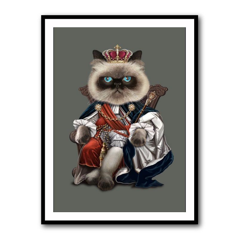 King Blue Framed Print