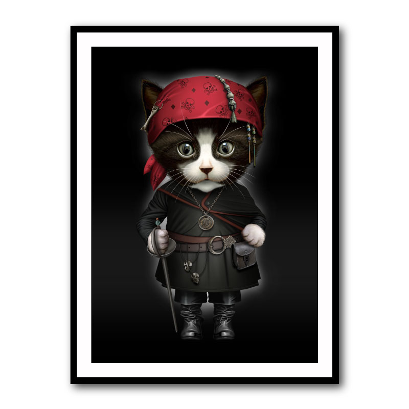 The Pirate Pussy Cat Framed Print