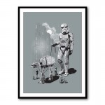 Walking the AT-AT Framed Print