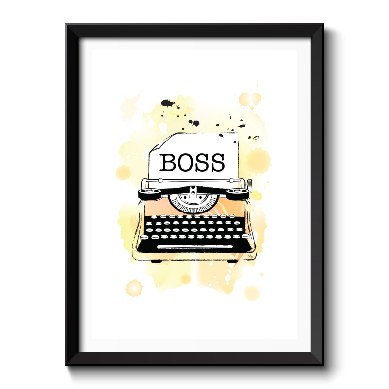 Boss Framed Art Print