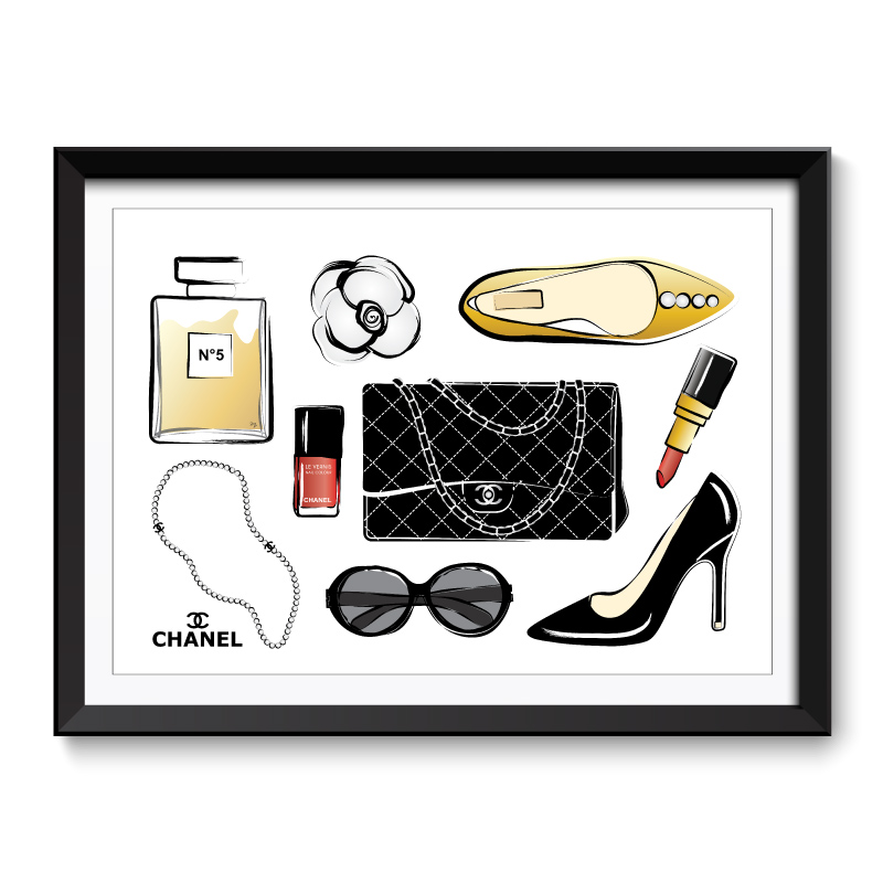 Chanel Accessories Framed Art Print