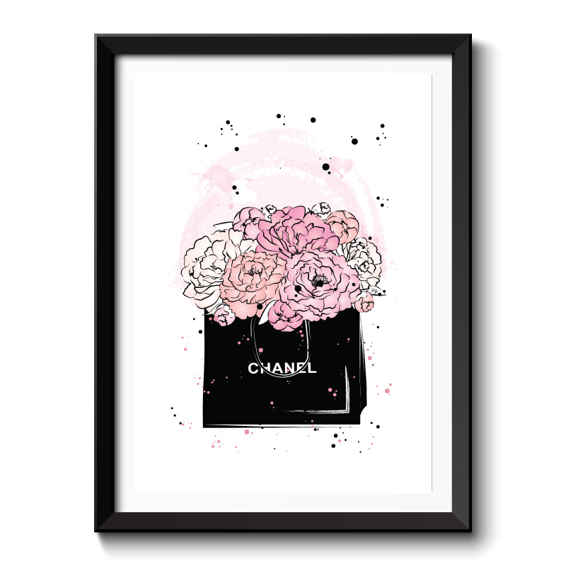 Chanel Flowers Framed Art Print