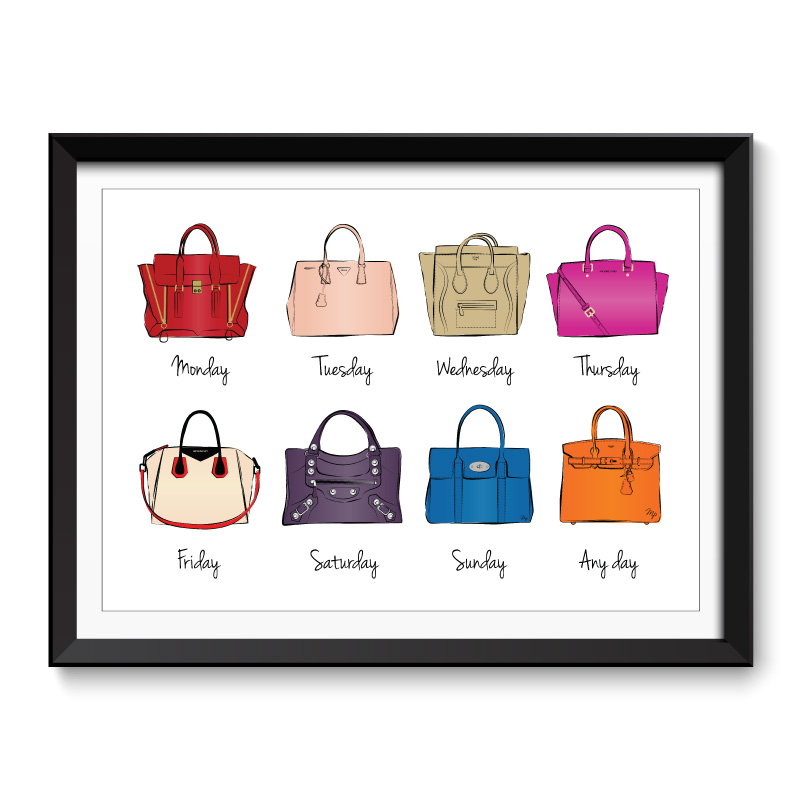 Handbags Framed Art Print