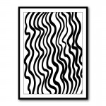 Black Waves by Martina Pavlov Framed Art Print