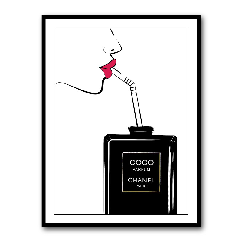 Sipping Coco by Martina Pavlov Framed Art Print