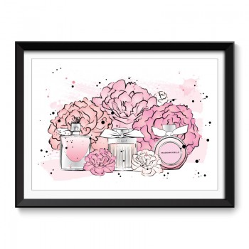 Perfumes and Flowers Framed Art Print