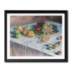 Apples and Grapes (1880) by Claude Monet Framed Art Print