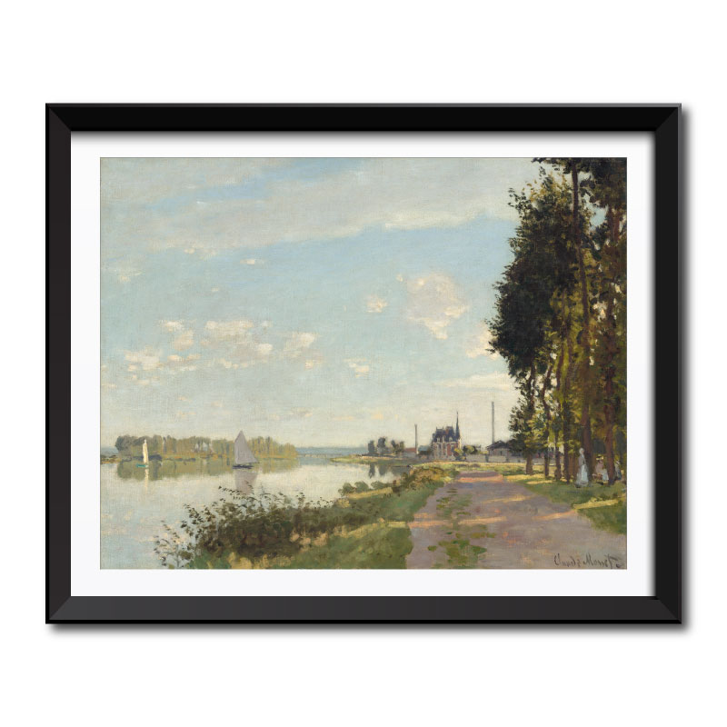 Argenteuil (1872) by Claude Monet Framed Art Print