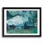 Arrival of the Normandy Train, Gare Saint-Lazare (1887) by Claude Monet Framed Art Print