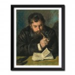 Auguste Renoir (1872) by Claude Monet Framed Wall Art Print