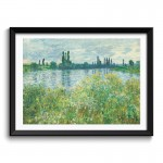 Banks of the Seine, Vétheuil (1880) by Claude Monet Framed Art Print