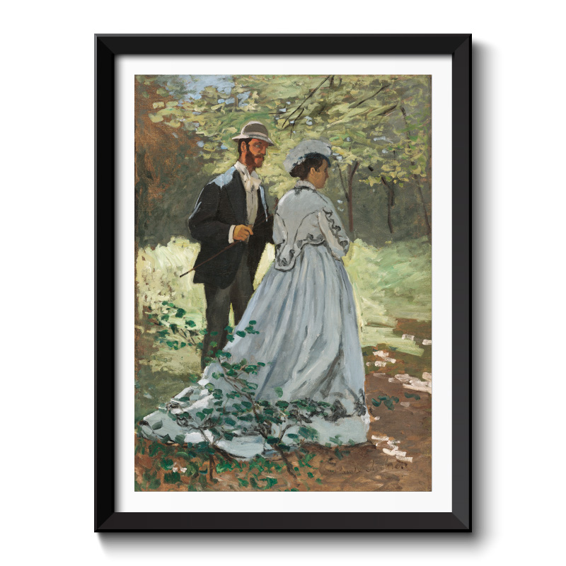 Bazille and Camille (1865) by Claude Monet Framed Wall Art Print