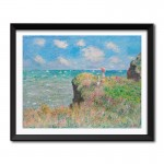 Cliff Walk at Pourville (1882) by Claude Monet Framed Art Print