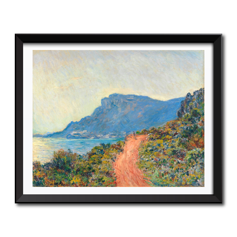 La Corniche near Monaco (1884) by Claude Monet Framed Art Print
