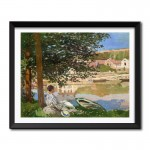 On the Bank of the Seine, Bennecourt (1868) by Claude Monet Framed Art Print