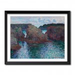 Rocks at Port-Goulphar, Belle-Île ( 1886) by Claude Monet Framed Art Print