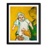 Madame Roulin and Her Baby (1888) by Vincent Van Gogh Framed Wall Art Print