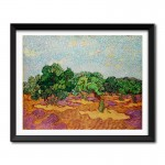 Olive Trees (1889) by Vincent Van Gogh Framed Art Print