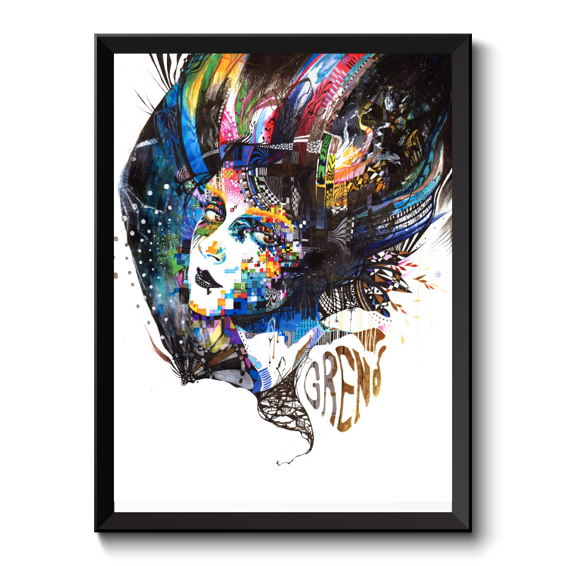 The Free By Minjae Lee Framed Art Print
