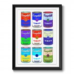 Campbells Soup Cans Framed Wall Art Print