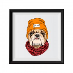 Cool Dog Bulldog Framed Print