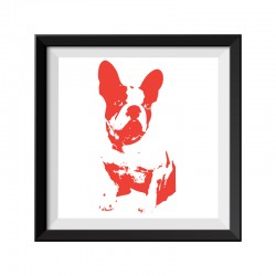 French Bulldog Red Framed Print