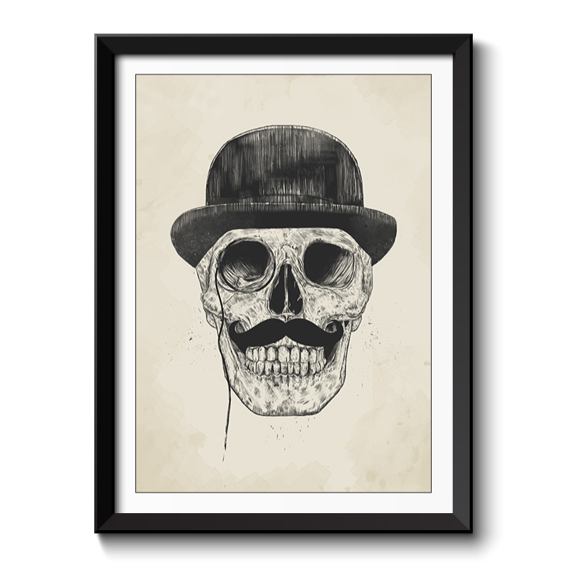 Gentlemen never die framed print