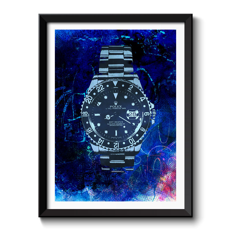 Rolex Watch Pop Art Framed Print