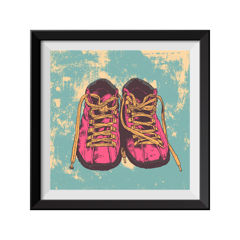 Shoes pop art framed print for Pop wall art