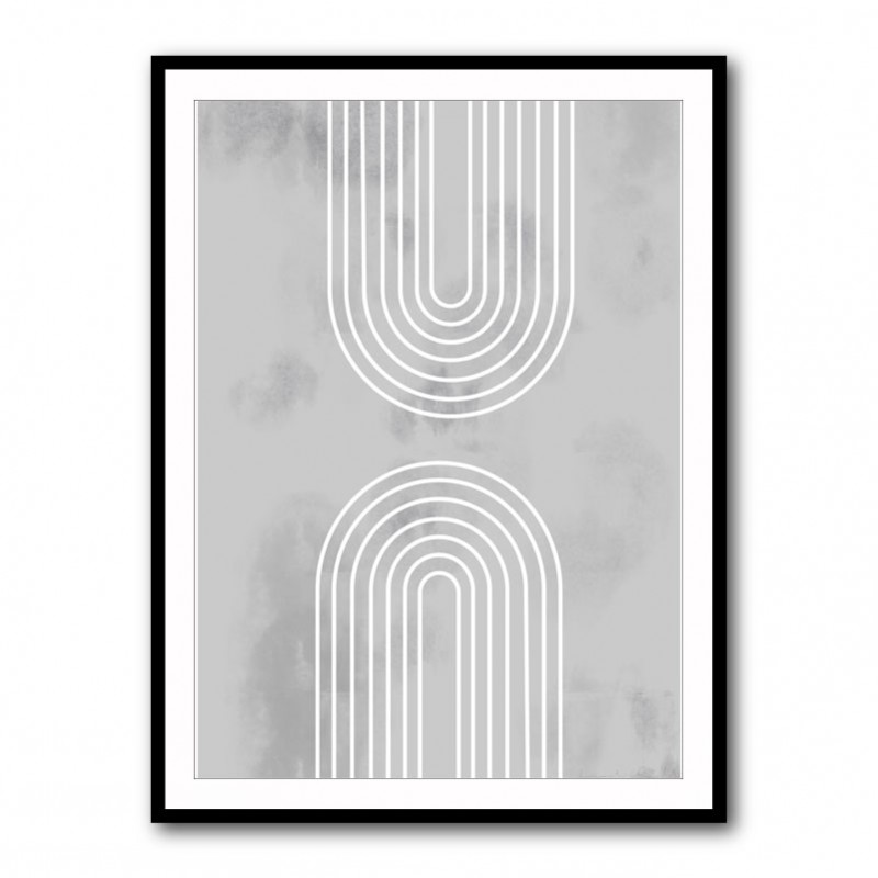 Archs in Ice Framed Wall Art Print
