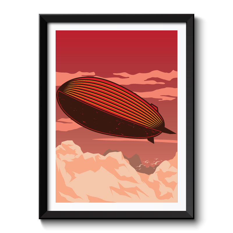 Art Deco Blimp Framed Art Print