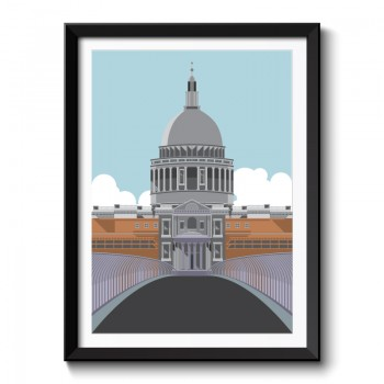 Art Deco Cathedral Framed Art Print