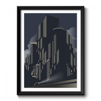 Art Deco City Framed Art Print