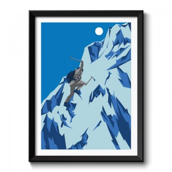 Art Deco Climber Framed Art Print