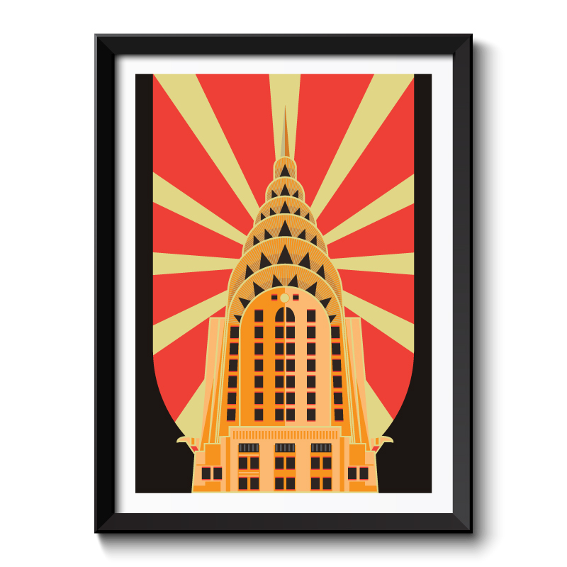 Art Deco Empire State Building Framed Art Print