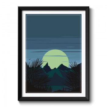 Art Deco Sunrise Framed Print