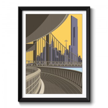 Art Deco Tracks Framed Art Print