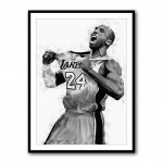 Kobe Bryant Celebration Framed Print