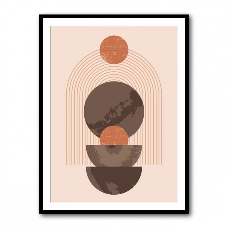 Arch and Circles Framed Print