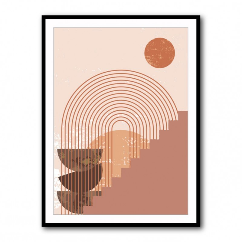 Steps and Arch Framed Print