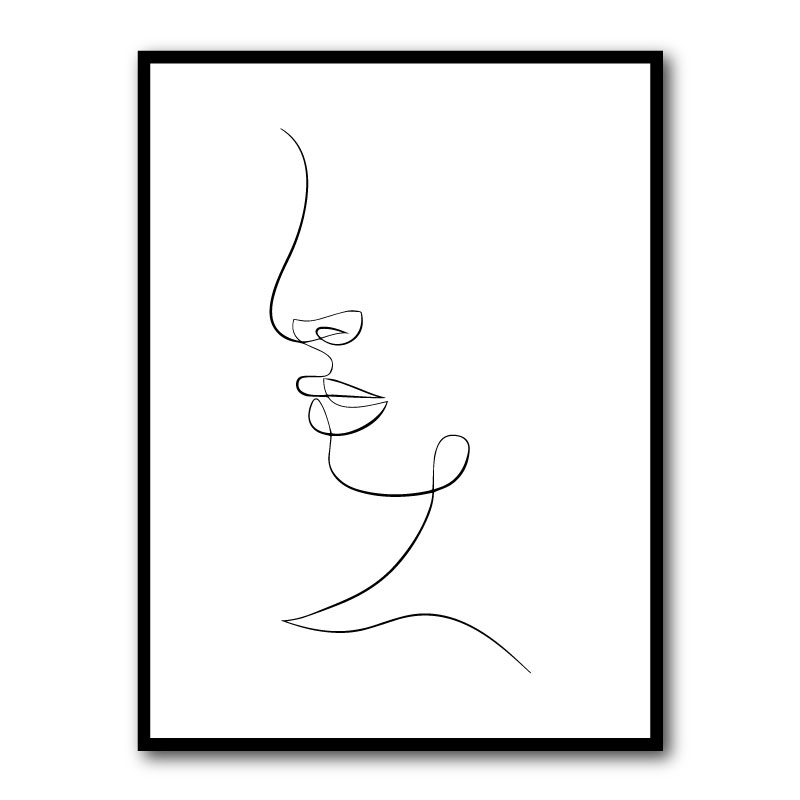 Face Lines Framed Art Print
