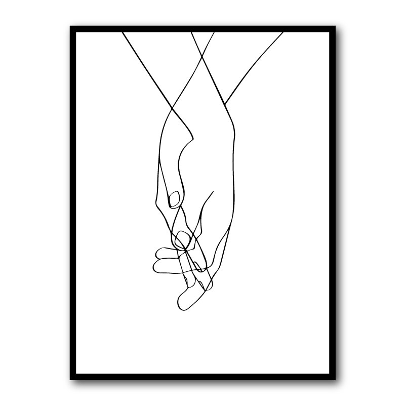 Hands of Love Framed Art Print