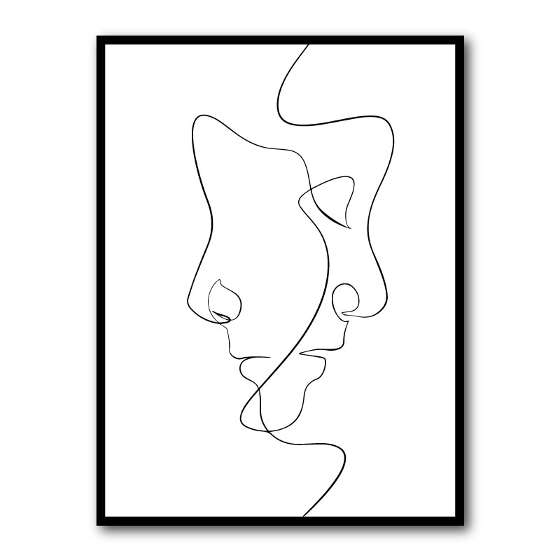 Two Faced Framed Art Print