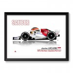 Charles Leclerc Formula 1 Cartoon Framed Print