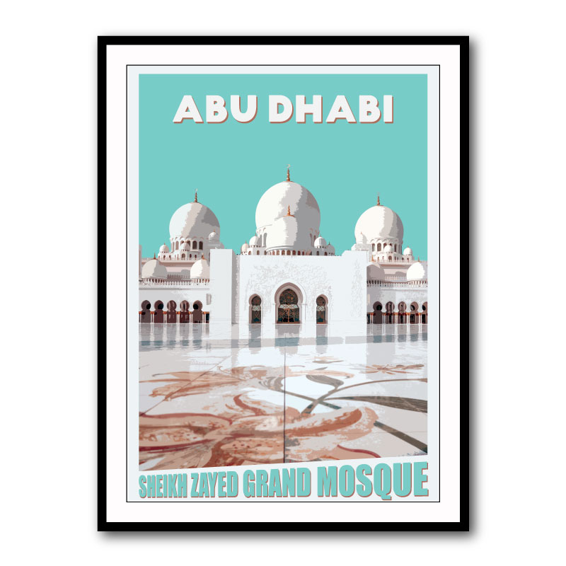 Sheikh Zayed Mosque Framed Art Print